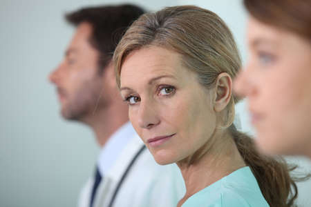 Portrait of female doctor photo