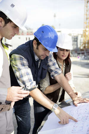 Architects on site photo