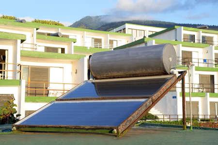 gelio: Solar panel on a roof