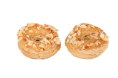 Almond topped pastries photo