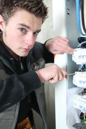 electrician working photo