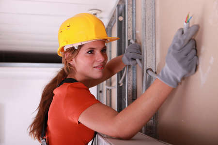 reviewer: Woman installing wiring