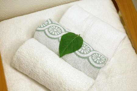 beautycare: White bath towels