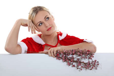 airs: alluring mother Christmas Stock Photo