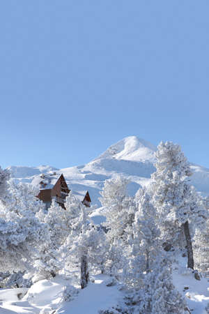 Lovely snowy mountain photo