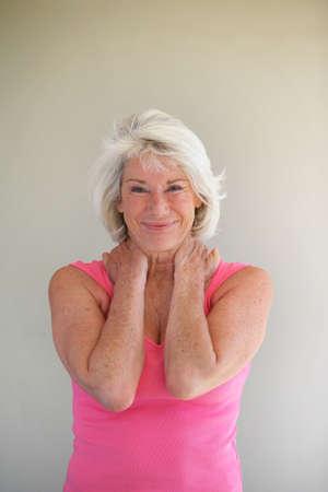 Happy senior woman photo