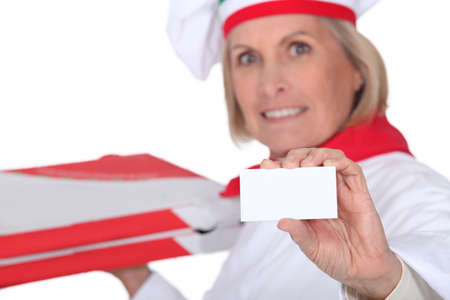 pizza maker: pizza maker showing card