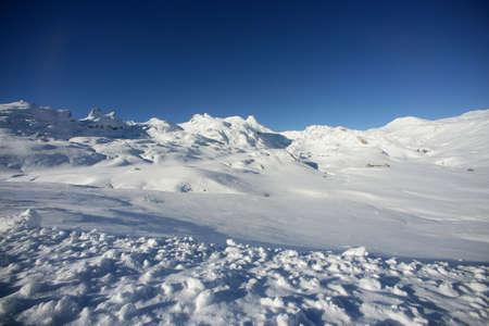 Untouched snow Stock Photo