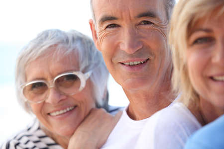 mature people: three mature people Stock Photo
