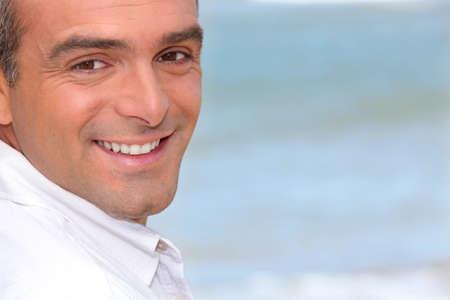flat nose: Portrait of a Man