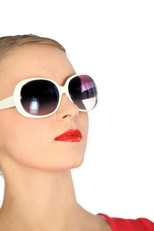 Woman with modern sunglasses photo