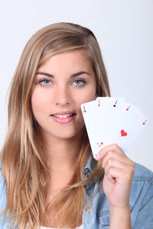 girl with good game photo