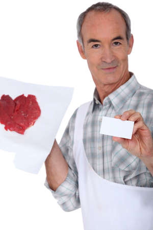 dispense: Steak and butcher card Stock Photo