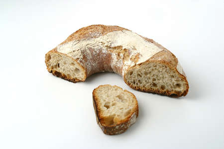 fibber: Sliced ring-shaped bread