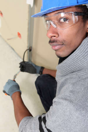 box cutter: Black electrician
