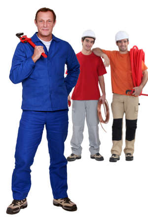 skilled: Skilled labourers Stock Photo