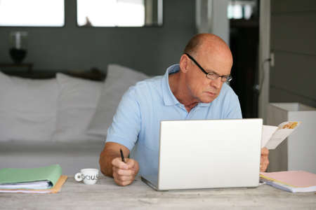 Man with computer photo