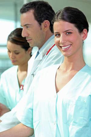 médico y las enfermeras photo