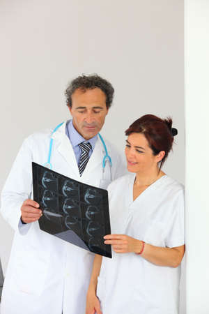 Radiologist getting a second opinion photo