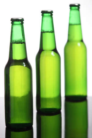 intoxicant: Three beer bottles Stock Photo