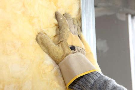 Insulation installation Stok Fotoğraf - 26085240