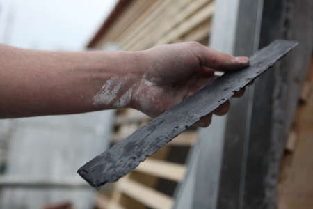 rooftiles: Artisan roofer Stock Photo