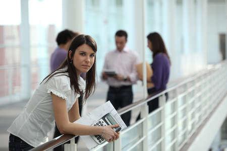 highschool student: Female student in hallway