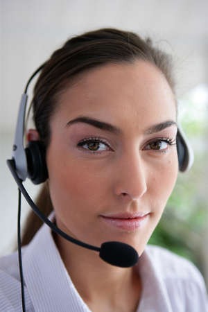 personal service: Woman wearing a headset