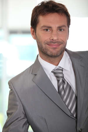 executive affable: Portrait of young stylish man Stock Photo
