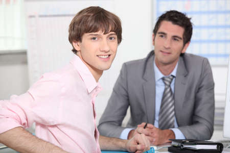 suitor: Man at a job interview