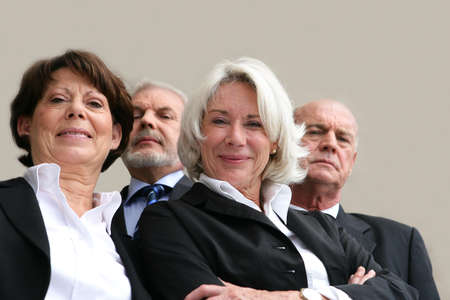 Senior businesspeople photo