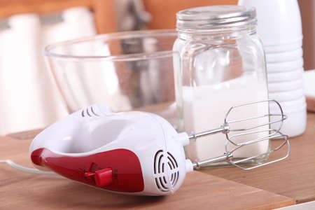 beater: Egg beater and sugar Stock Photo