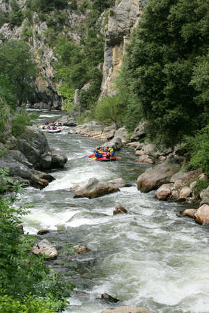 rafting: White water rafting Stock Photo