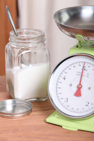 accurately: food scale Stock Photo