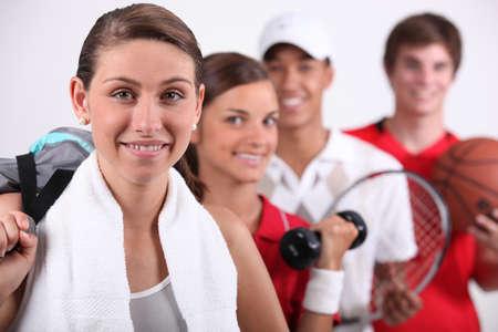 educacion fisica: Varios deportes Foto de archivo