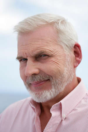 70s adult: happy senior smiling Stock Photo