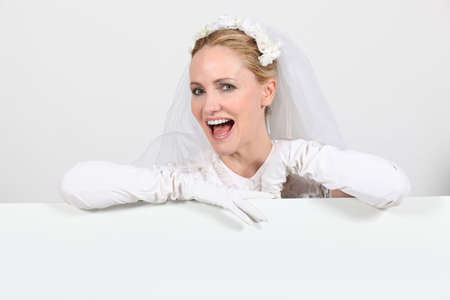 Happy bride Stock Photo - 26133917