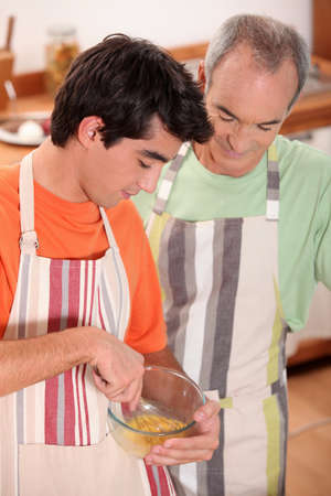 Family Cooking Stock Photo - 26102729