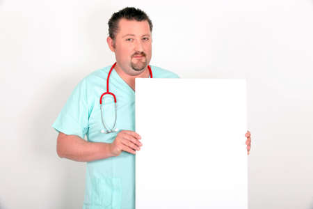 Physician with white panel photo