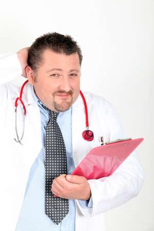 disconcert: an embarrassed doctor