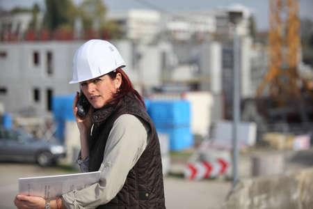 Female architect on site photo