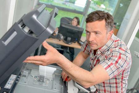 Beheben eines Drucker Lizenzfreie Bilder