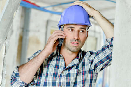 foreman: Stressed foreman Stock Photo