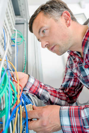electricity providers: Working on the server room