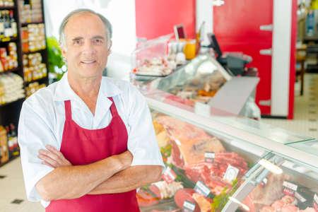 butcher shop: Butcher shop proud de son