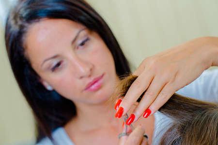 shorten: Hair straightening hard at work
