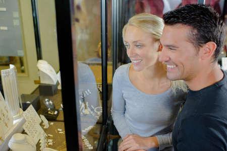 giving back: Couple choosing ring