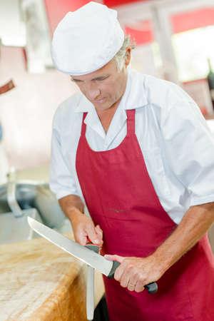 sharpening: Butcher sharpening knife