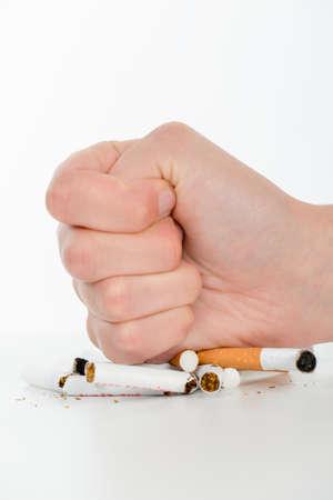 bad habit: Slashing cigarettes Stock Photo