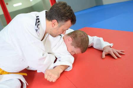 dojo: Heated match  in a dojo